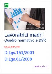 Lavoratrici madri: Quadro normativo | Check list | DVR