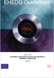Cleaning validation in the food industry: General principles