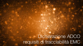 Dichiarazione ADCO sui requisiti di tracciabilità EMC