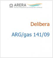Delibera ARG/gas 141/09