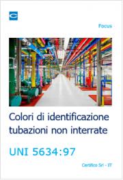 Colori di identificazione tubazioni non interrate UNI 5634