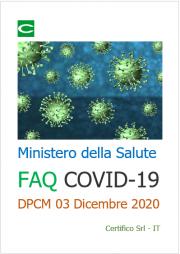 FAQ Ministero della Salute COVID-19   DPCM 03 Dicembre 2020