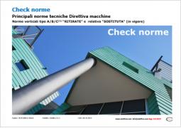 Check norme Direttiva macchine 2006/42/CE