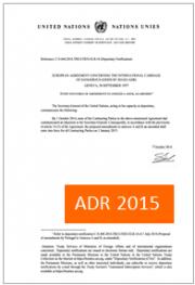 ADR 2015: Ufficiale il draft dal 1° Gennaio delle modifiche proposte