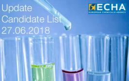 ECHA: Update Candidate List 27.06.2018