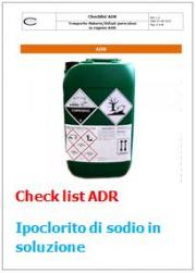 Checklist trasporto in colli di Ipoclorito di Sodio (ONU 1791) ADR 2015