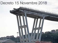 Decreto 15 Novembre 2018 ST appalto lavori di demolizione ponte Morandi