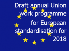 Draft annual Union work programme for European standardisation for 2018
