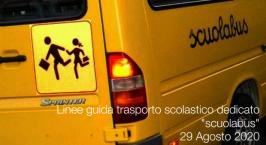 Linee guida trasporto scolastico dedicato