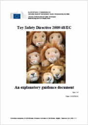 Guidance document on the application of Directive 2009/48/EC on the Safety Toys - Rev. 1.9 2016