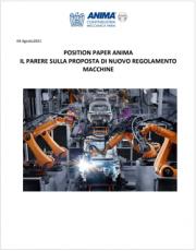 Anima - Position Paper proposta del Nuovo Regolamento Macchine