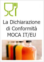 Dichiarazione di Conformità MOCA IT/EU per tipologia di materiale