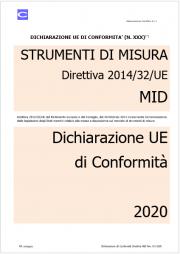 Dichiarazione UE di Conformità | Direttiva MID