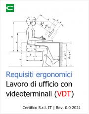 Requisiti ergonomici per il lavoro di ufficio con videoterminali (VDT)