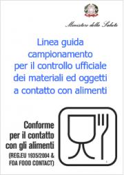 Linea guida campionamento e controlli materiali e oggetti contatto alimenti