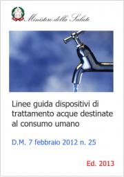 Linee guida dispositivi di trattamento acque destinate al consumo umano