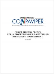 Codice di buona pratica progettazione e controllo massetti e pavimenti