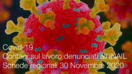 Covid-19 | Contagi sul lavoro denunciati all'INAIL: Schede regionali 30 Novembre 2020