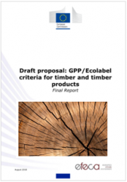 GPP/Ecolabel criteria for timber and timber products