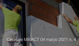 Circolare MIBACT 04 marzo 2021 n. 4