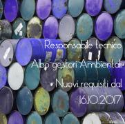 Delibera n. 6/2017 Albo gestori ambientali: Responsabile tecnico nuovi requisiti