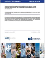 UNI/PdR 49:2018 Responsabilità sociale settore costruzioni