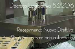 Decreto Legislativo 83/2016 Strumenti per pesare non automatici