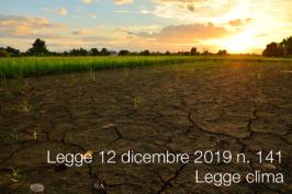 Legge 12 dicembre 2019 n. 141   Legge clima