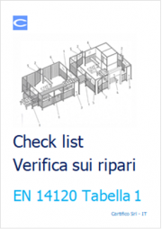 Check list EN 14120 Verifica sui ripari