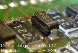 Direttiva delegata (UE) 2019/171 | Modifica All. III Direttiva ROHS II