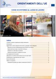 EU-OSHA: COVID-19 Ritorno al luogo di lavoro | Update 12.2020