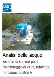 Analisi acque: sistema di sensori monitoraggio di virus - Standard CEN