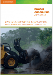 EN 13432 certified bioplastics performance in industrial composting