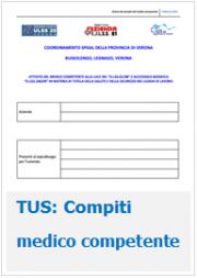 Compiti del Medico Competente: una scheda sintesi