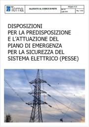 Piano Emergenza Sicurezza Sistema Elettrico (PESSE)