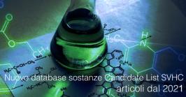 Nuovo database sostanze Candidate List SVHC articoli dal 2021