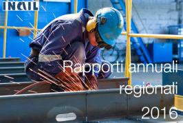 INAIL: Rapporti 2016 per regione