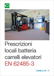 Prescrizioni operazioni locali carica batterie carrelli elettrici