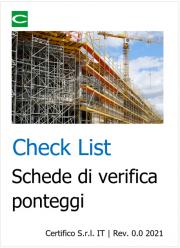 Check List | Schede di verifica ponteggi