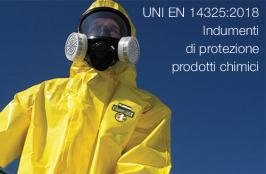 UNI EN 14325:2018 | Indumenti di protezione contro prodotti chimici