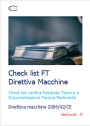 Check list FT Direttiva Macchine