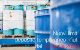 Legge n. 27/2020 | Nuovi limiti deposito temporaneo rifiuti