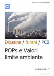 Diossine / furani / PCB: POPs e Valori limite ambiente