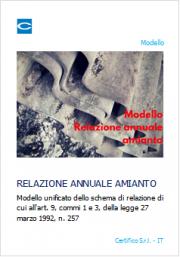 Modello relazione annuale amianto