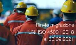 Circolare DC N° 08/2018 | Rinvio migrazione UNI ISO 45001:2018