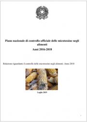 Relazione controllo delle micotossine negli alimenti | anno 2018