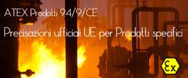 ATEX Prodotti: precisazioni UE per attrezzature specifiche