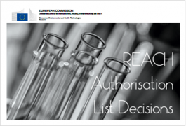 REACH Authorisation Decisions: Last update 08/12/2016