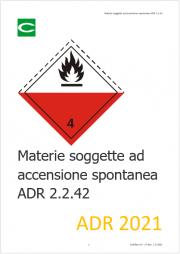 Materie soggette ad accensione spontanea ADR 2.2.42
