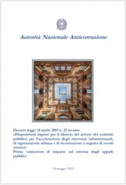 Valutazioni ANAC Decreto sblocca cantieri